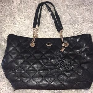 KATE SPADE large quilted leather tote bag